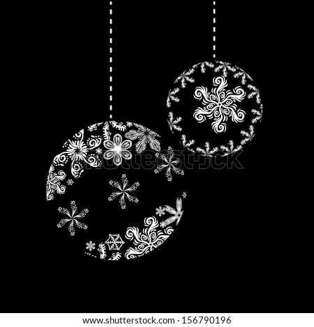 Christmas vector decoration. Beautiful snowflakes.
