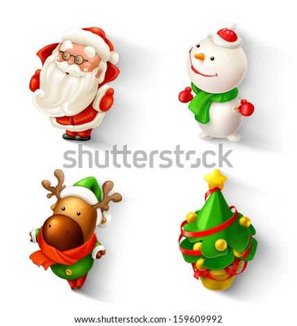 Christmas vector icon set - stock vector