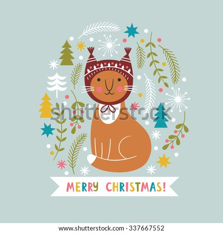 Christmas vector illustration - stock vector