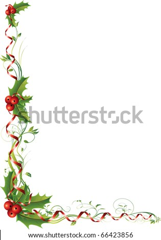 Christmas vector illustration. All elements are editable. - stock vector