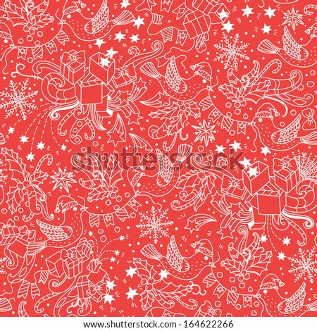 Christmas vector seamless pattern  - stock vector