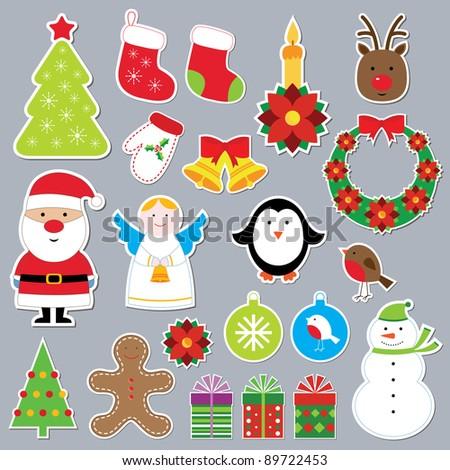 Christmas vector set - stock vector