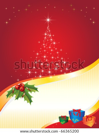 Christmas vectorial illustration. All elements are editable. - stock vector