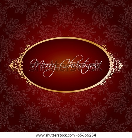 Christmas vintage greeting - stock vector