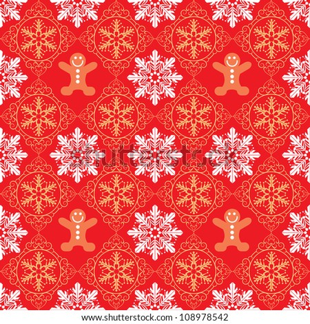 Christmas Wallpaper Seamless. Pattern. Vector. Happy new year. - stock vector