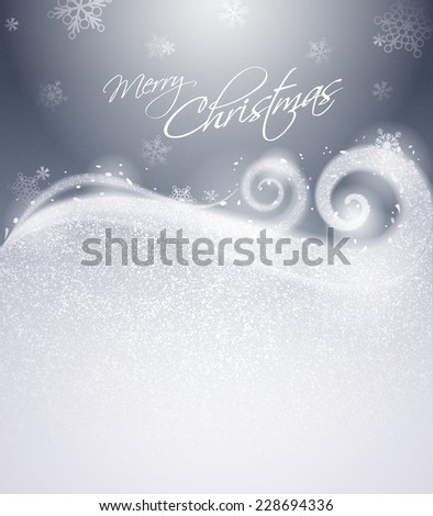 Christmas winter background - Silver - stock vector