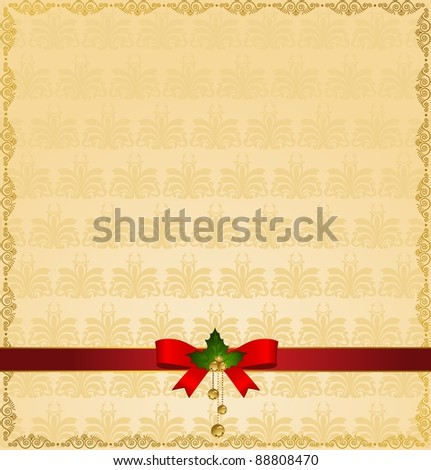 Christmas winter background. Vector illustration - stock vector