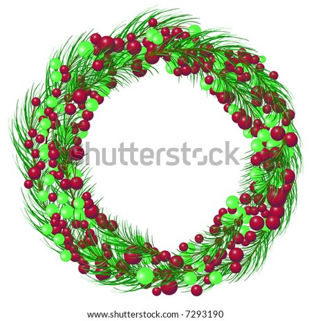 Letters joy portrayed by christmas things stock photo for Alphabet christmas wreath