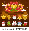 christmas,Xmas icon & background collection - stock vector