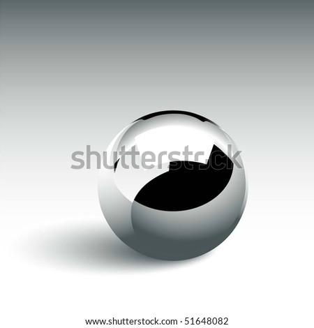 Chrome Ball - stock vector