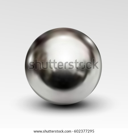 Greatest Chrome Ball Realistic Isolated On White Stock Vector HD (Royalty  WI78