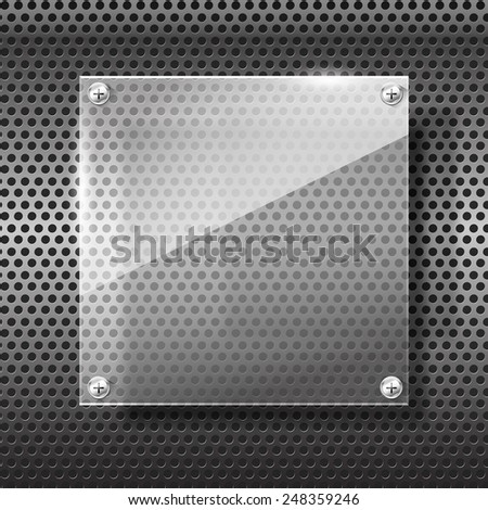 Chrome black and grey background texture vector illustration