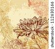 Chrysanthemum background - stock vector