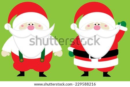 Chubby Santa Claus Group - stock vector