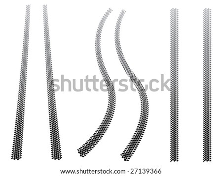 Chunky tyre tracks - stock vector