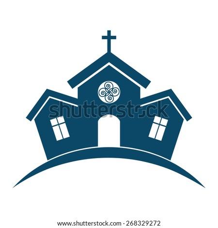 Church building design. - stock vector