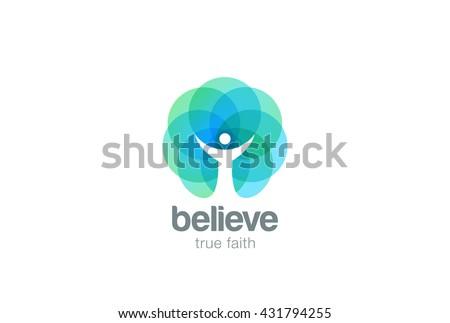 church faith logo pray religion abstract ベクター画像素材 431794255