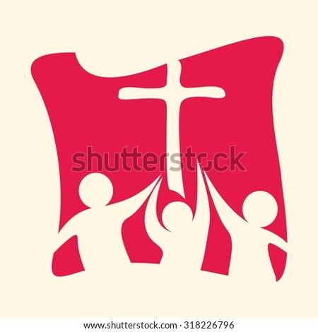 Church group - stock vector
