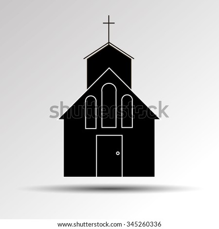 church vector christian religion icon building catholic illustration cross symbol