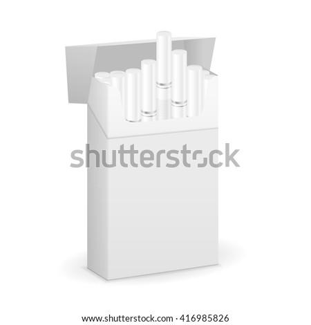 Cigarette box on a white background. - stock vector