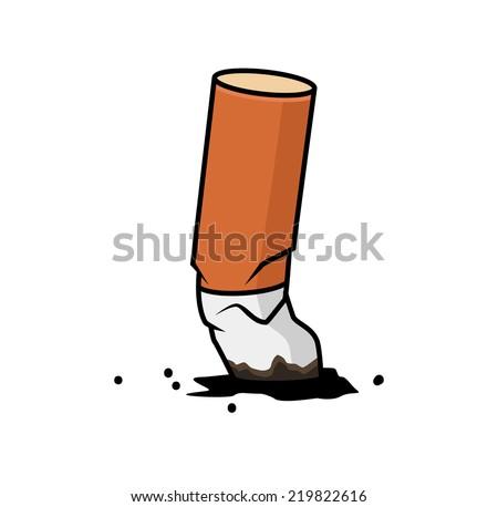 Cigarette end - stock vector