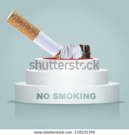 cigarette on a podium. vector design - stock vector