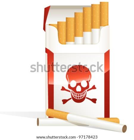cigarette pack - vector illustration - stock vector