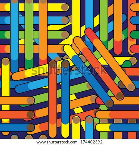 cigarette seamless multicolored pattern  - stock vector