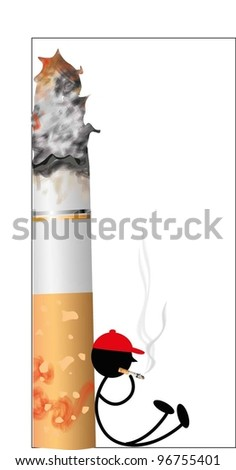 Cigarette smoking (vector)