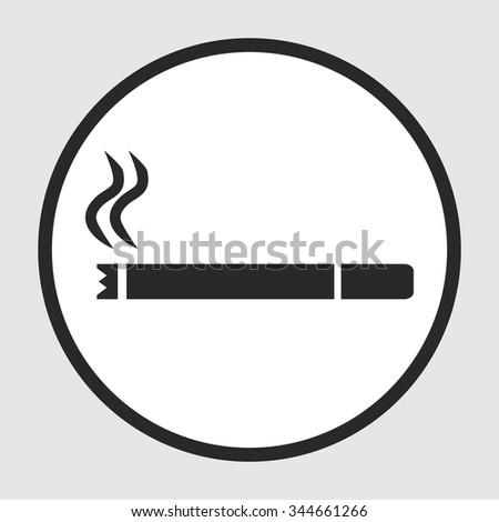 cigarette smoldering icon - stock vector