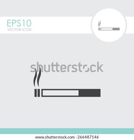 Cigarette vector icon. Smoking symbol. - stock vector