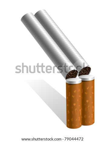 Cigarettes - stock vector