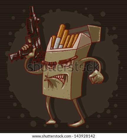 Cigarettes are killing 05, vector - stock vector