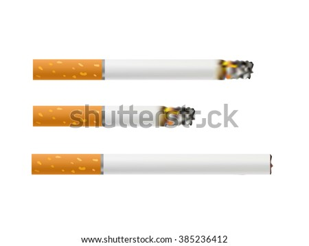 Cigarettes Burning . Vector