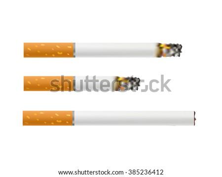 Cigarettes Burning . Vector - stock vector