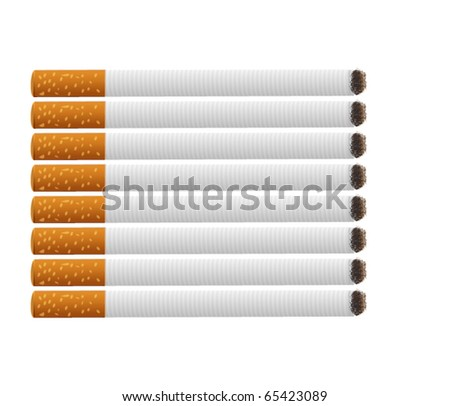 Cigarettes Vector Pack isolated on white - stock vector