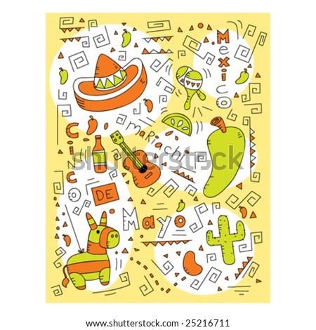 Cinco de Mayo Doodle - stock vector
