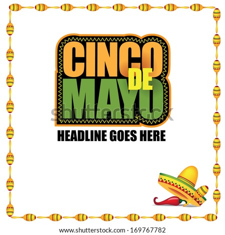 Cinco De Mayo marketing template. EPS 10 vector, grouped for easy editing. No open shapes or paths.  - stock vector
