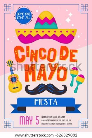 Cinco de mayo mexican holiday banner stock vector 626329082 cinco de mayo mexican holiday banner poster and party invitation design stopboris Images