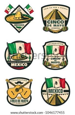 Cinco de mayo mexican holiday celebration stock vector hd royalty cinco de mayo mexican holiday celebration sketch icons for for mexico traditional fiesta greeting card m4hsunfo