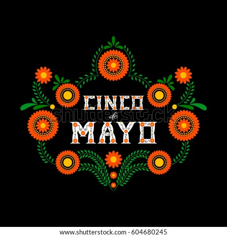 Cinco De Mayo Typography Banner Vector Mexico Design For Fiesta Cards Or Party Invitation And