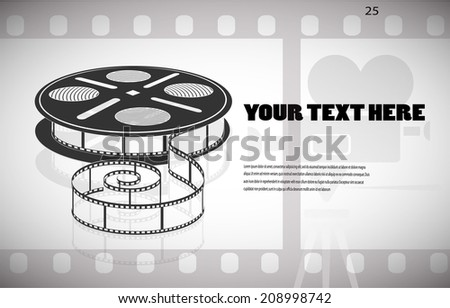 cine-film in the frame vector background - stock vector