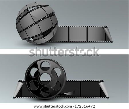 Cinema banner - stock vector