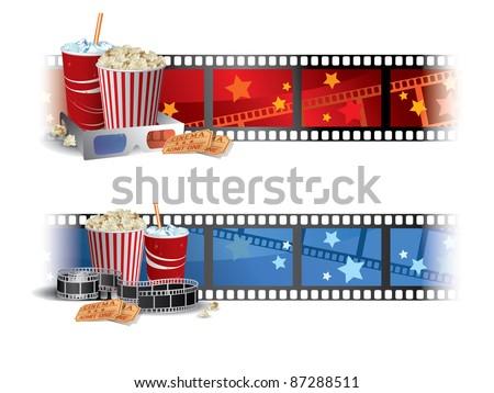 Cinema Banners - stock vector