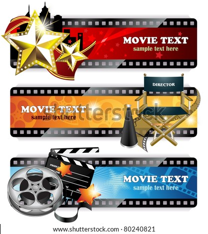 Cinema Banners - EPS 10 - stock vector