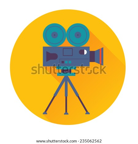 cinema camera icon - stock vector