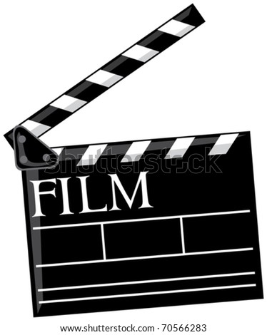 Cinema clapboard - stock vector