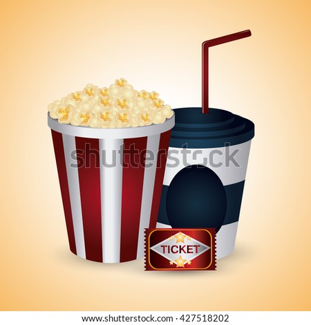 Cinema design. Movie concept. Flat illustration