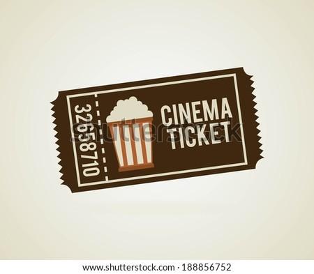 Cinema design over beige background, vector illustration - stock vector