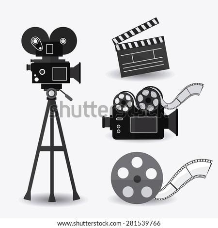 Cinema design over white background, vector illustration. - stock vector